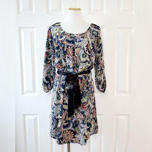 Jeanette Plus Boho Floral Paisley Dress